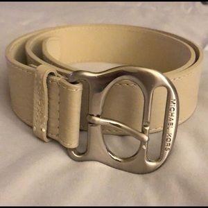 Michael Kors Creme Belt